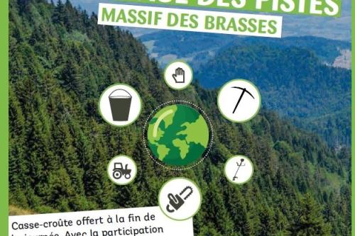 NETTOYAGE DES PISTES DU MASSIF DES BRASSES